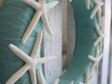 starfish yarn wreath