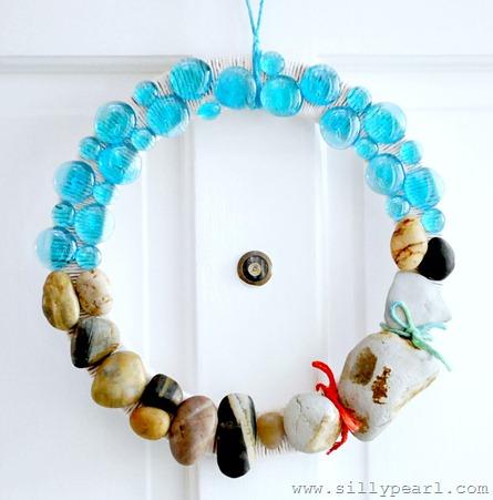 beach rock wreath