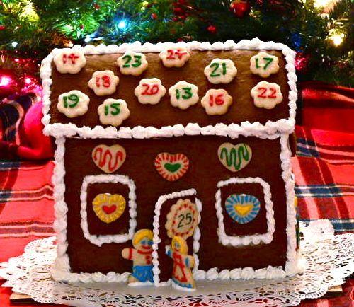gingerbread house calendar (via gingerbreadsnowflakes)