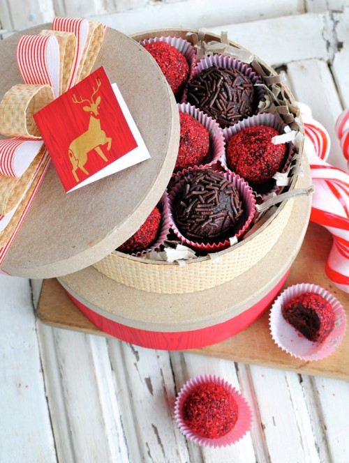 chocolate raspberry and rum truffles
