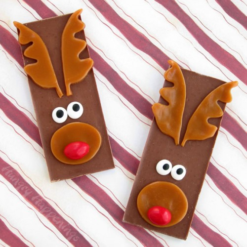 Rudolf candy bars (via hungryhappenings)