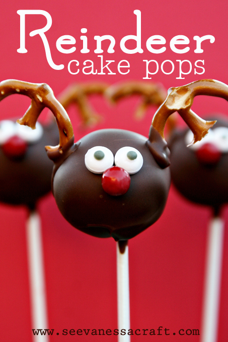 reindeer cake pops (via seevanessacraft)