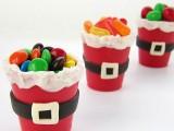 Santa suit candy cups