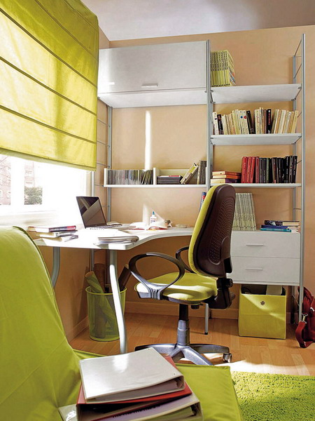 Desk And Shelving System In One
