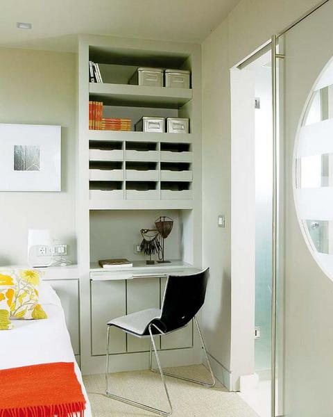 Compact Built In Bedroom Working Area