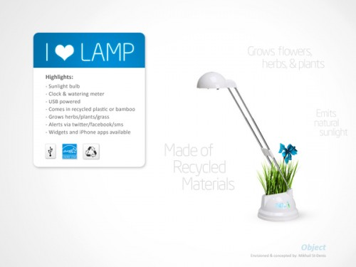 Desk Lamp And a Flower Pot Hybrid