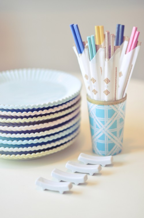 Dipped Wooden Chopsticks For Parties
