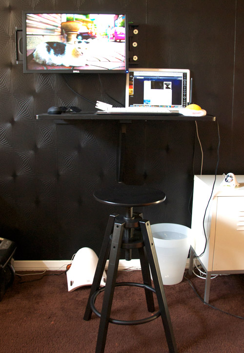 How To Make A Very Practical Standing Desk For $30