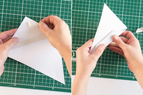 Easy DIY 3D Paper Triangle Wall Decor