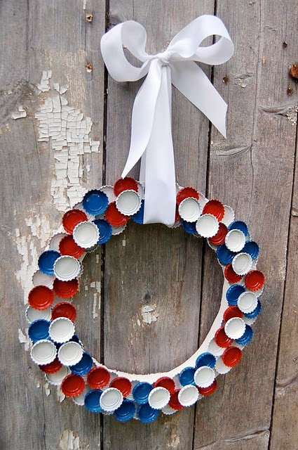 Diy 4th Of July Bottle Cap Wreath