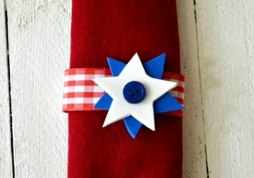 Diy 4th Of July Star Napkin Rings
