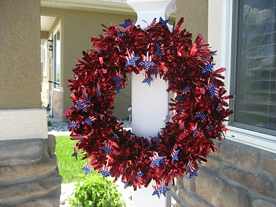 Diy 4th Of July Wreath Of Garland