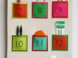 Diy Embroidered Felt Advent Calendar