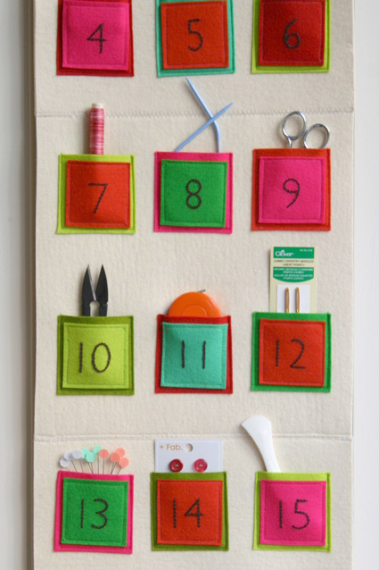 Diy Embroidered Felt Advent Calendar