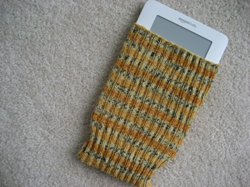 DIY Knitted Kindle Sock