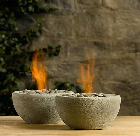DIY Mini River Rock Fire Bowls