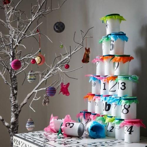 DIY Modern Stacking Advent Calendar