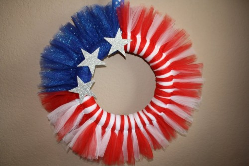 DIY Patriotic Tulle Wreath