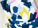 layered abstract wall art