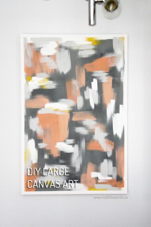 large canvas art (via mylittlesecrets)