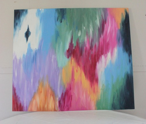 Great colorful abstract wall art via homeingmn