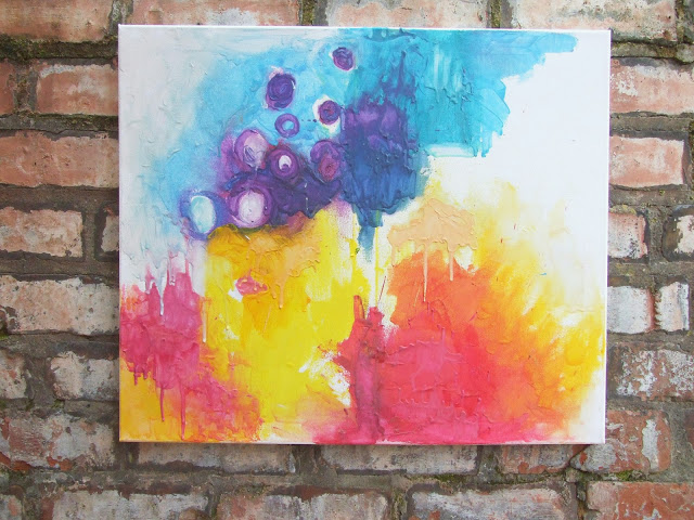 melted crayons art