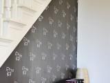 stenciled chalkboard wall