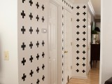black and white cross wall