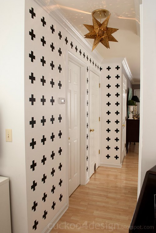 black and white cross wall (via cuckoo4design)