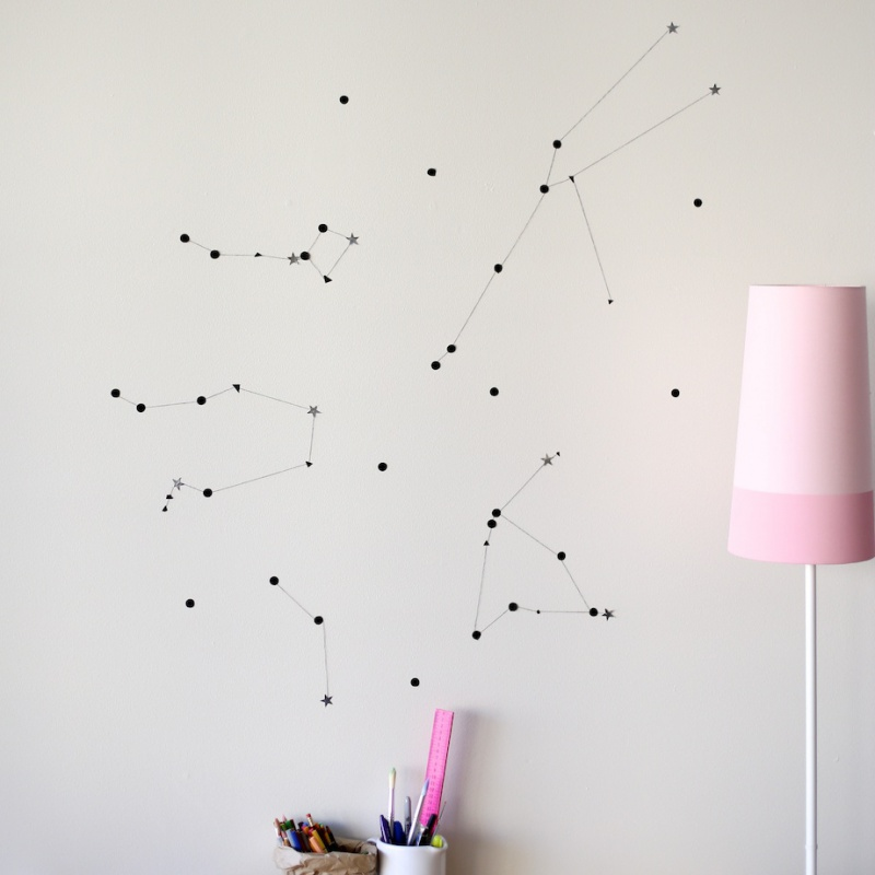 constellation accent wall
