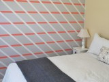diagonal stripes accent wall