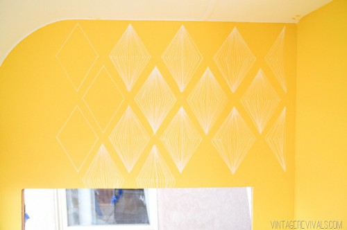 diamond accent wall (via vintagerevivals)