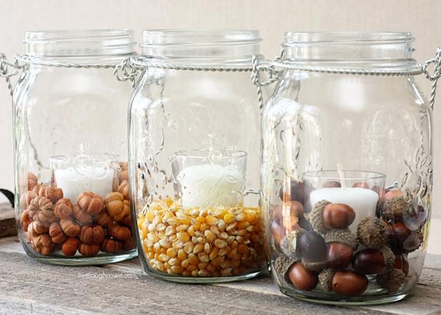acorn candleholders