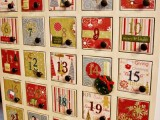 DIY Advent Calendar From Holiday Paper