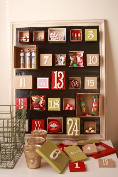 50 cool diy advent calendars shelterness diy advent calendar made of boxes solutioingenieria Images