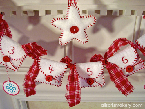 DIY Advent Calendar Pockets