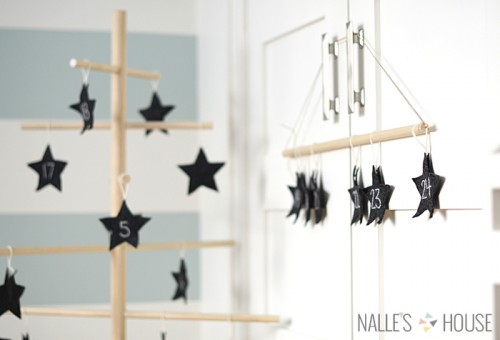 Diy Advent Tree With Felt Stars