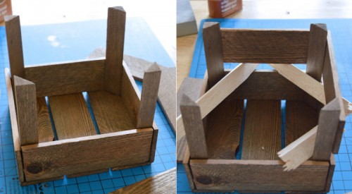 DIY Aged Miniature Farm Fruit Crate