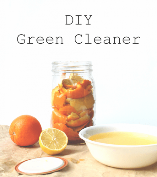 DIY cleaner with various citrus zest (via elvajane)