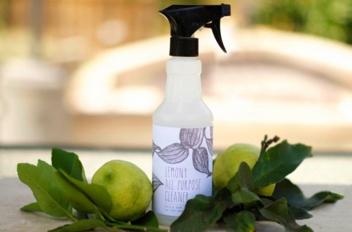 lemon and tea tree cleaning spray (via littlemonsterbaby)