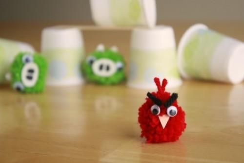 Diy Angry Birds Poms