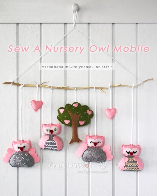 pink owl mobile (via craftpassion)
