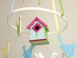 pastel bird mobile