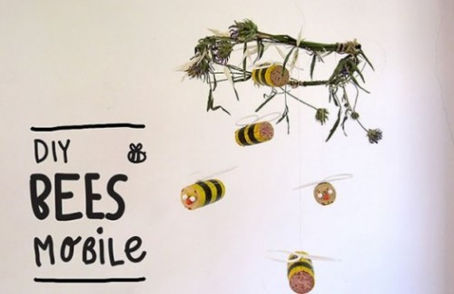 bumblebee mobile (via kidsomania)