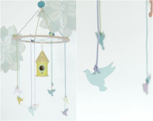 birdhouse mobile (via thedecorfix)