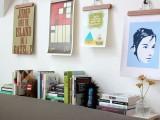 Diy Art Work Displays From Clothhangers