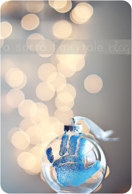 Diy Baby Hand Christmas Ornament