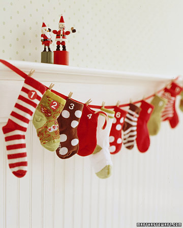 Diy Baby Sock Advent Calendar