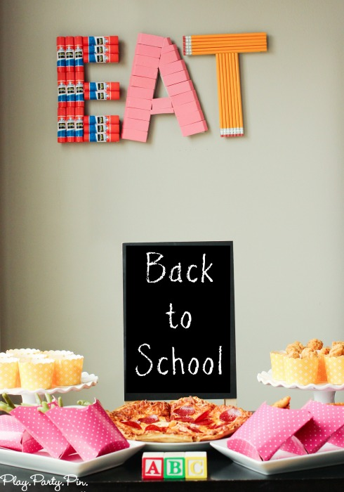 Diy Back To School Party Decorative Sign