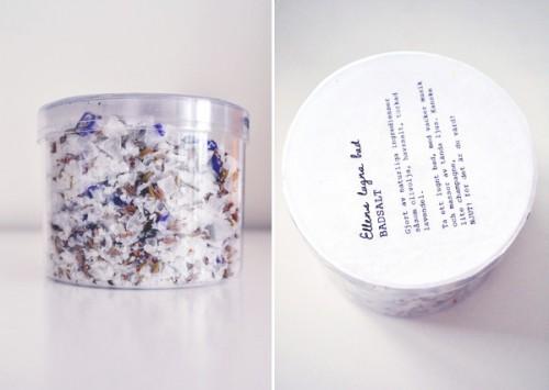 herbs infused bath salts (via blogg)
